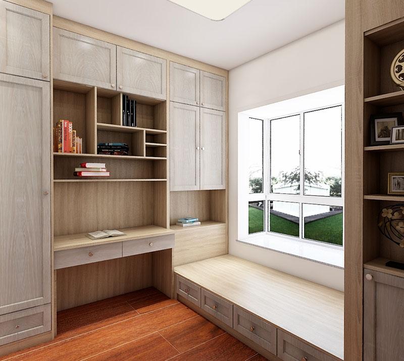 书柜书桌榻榻米一体组合柜
